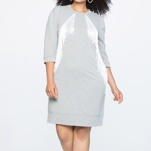 Eloquii Fringe Detail Shift Dress 14/16